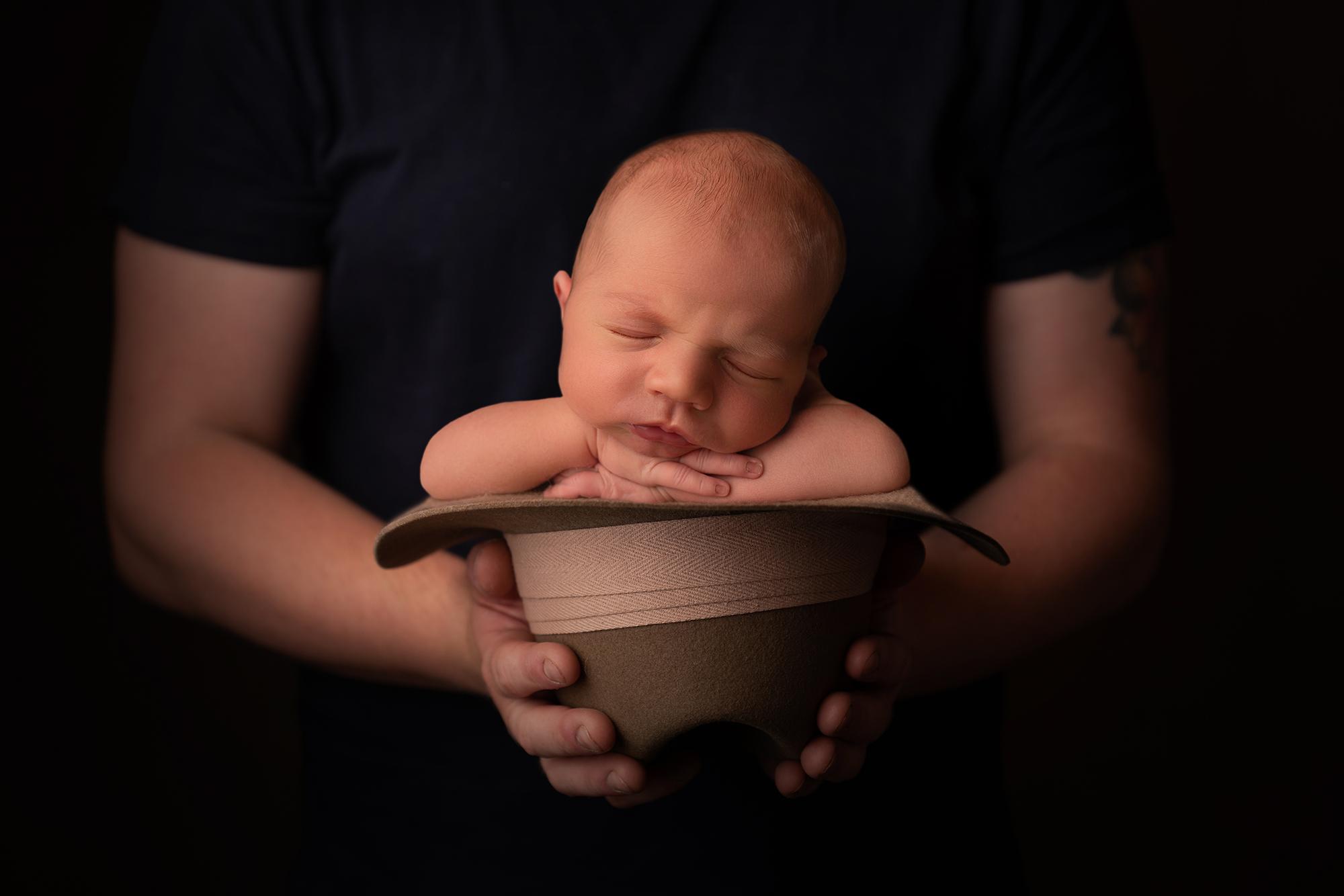 Newborn baby & Grandads Hat